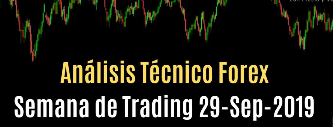 Análisis Técnico Forex Semana de Trading 29 Septiembre 2019